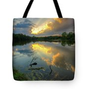 Community Lake #8 Sunset Tote Bag