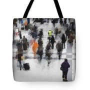 Commuter Art Abstract Tote Bag