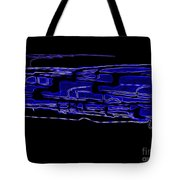 Compartmental Blues Tote Bag