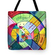 Compartmentalized Information Tote Bag