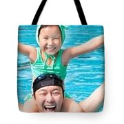 Competitive Swimming Classes Tote Bag