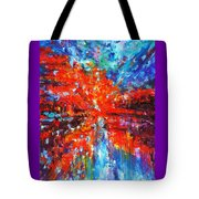 Composition # 2. Series Abstract Sunsets Tote Bag