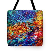 Composition # 5. Series Abstract Sunsets Tote Bag