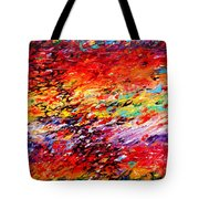 Composition # 6. Series Abstract Sunsets Tote Bag