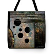 Composition With Holes And Spikes Tote Bag