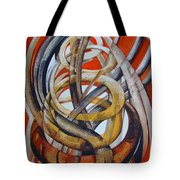 Composition With Red Tote Bag