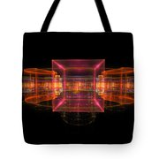 Computer Generated 3d Abstract Fractal Flame Modern Art Tote Bag