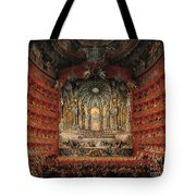 Concert Given By Cardinal De La Rochefoucauld At The Argentina Theatre In Rome Tote Bag