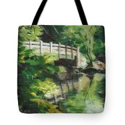 Concord River Bridge Tote Bag
