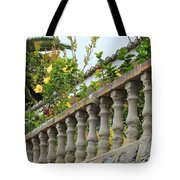 Concrete Banister And Plants Tote Bag