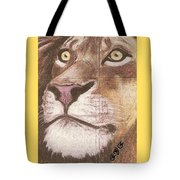 Concrete Lion Tote Bag