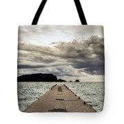 Concrete Pier Off-season Tote Bag