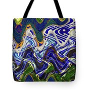 Condos On The Beach Abstract Tote Bag