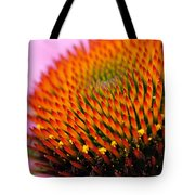 Cone Flower Closeup Tote Bag