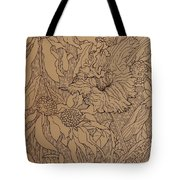 Cone Flowers And Daylily Tote Bag