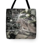 Cone Web With Dew Tote Bag