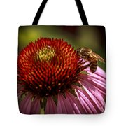Coneflower Bee Tote Bag