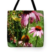 Coneflowers In Garden Tote Bag