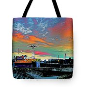 Coney Island In Living Color Tote Bag