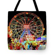 Coney Island Magic In Neon Tote Bag