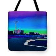 Coney Island Parachute Jump And Beach Tote Bag