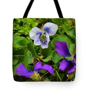 Confederate And Purple-blue Violets Tote Bag