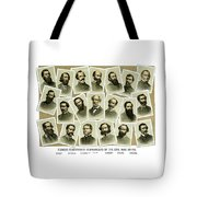 Confederate Commanders Of The Civil War Tote Bag