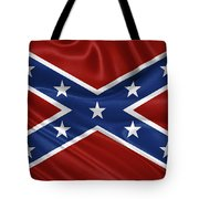 Confederate Flag - Second Confederate Navy Jack And The Battle Flag Of Northern Virginia Tote Bag