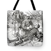 Confederate General John Brown Gordon Assists Wounded Union General Francis Channing Barlow Tote Bag