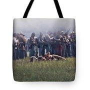 Confederate Infantry Skirmish  Tote Bag