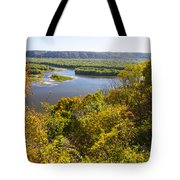 Confluence Of Mississippi And Wisconsin Rivers Tote Bag