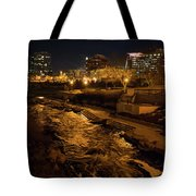 Confluence Park Rapids At Night Tote Bag