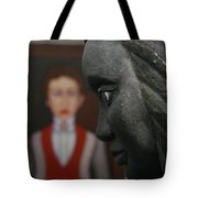 Confrontation Of Two Artworks Tote Bag