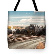Congested Tracks Tote Bag
