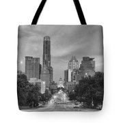 Congress Andtexas Capitol Black And White 1 Tote Bag
