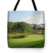 Congressional Blue Course - The Finish - Par 4 18th Tote Bag