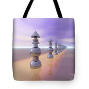 Conical Geometric Progression Tote Bag