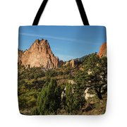 Coniferous Trees In The Garden Of The Gods Tote Bag