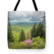 Conifers And Blooms Tote Bag