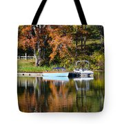 Connect Lake In The Fall Tote Bag