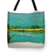Connecticut River Between New Hampshire And Vermont Tote Bag