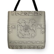 Connecticut-type Hadley Chest-detail Of Central Panel Tote Bag