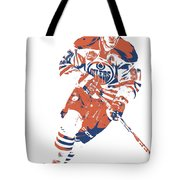 Connor Mcdavid Edmonton Oilers Pixel Art 6 Tote Bag