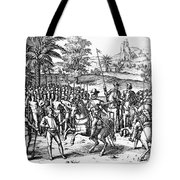 Conquest Of Inca Empire Tote Bag