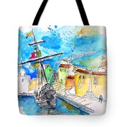 Conquistador Boat In Portugal Tote Bag
