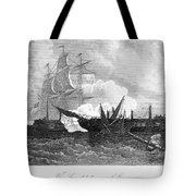 Constitution And Guerriere Tote Bag