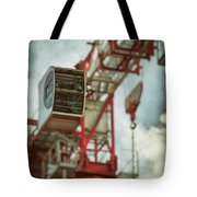 Construction Crane Tote Bag by Wim Lanclus