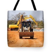 Construction Digger Tote Bag