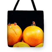Construction On Oranges Tote Bag