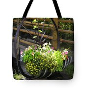 Contained Flowers  Tote Bag